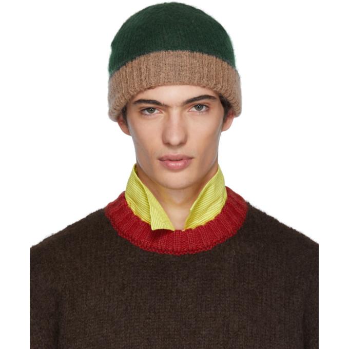 Marni Bonnet en jersey vert et rose