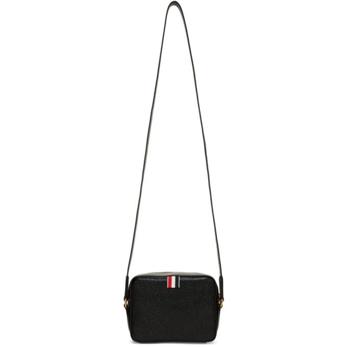 Thom Browne Black Mini Business Bag
