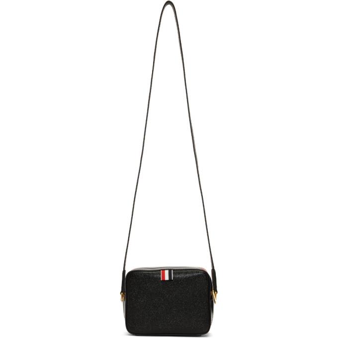 Thom Browne Black & Tricolor Mini Business Bag