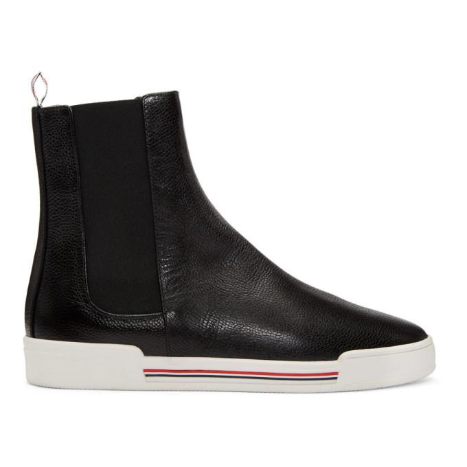 Thom Browne Black Chelsea Sneaker Boots