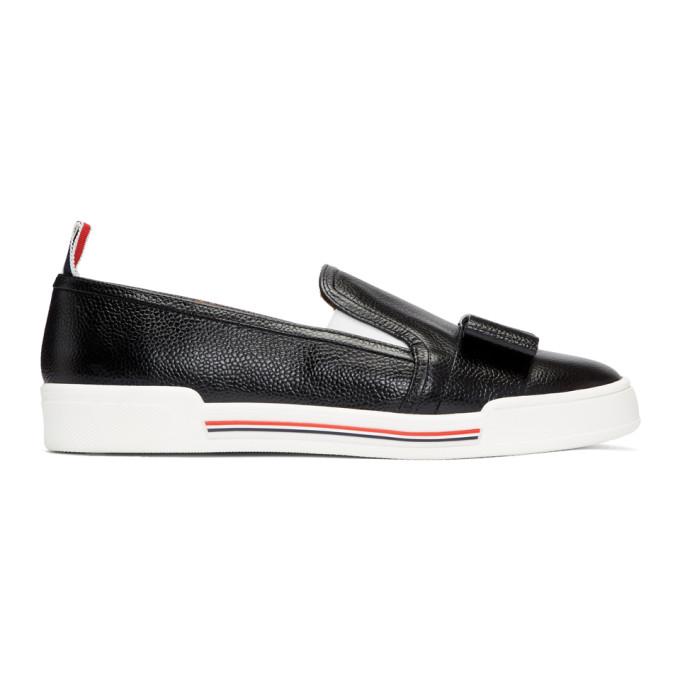 Thom Browne Black Bow Slip-On Sneakers