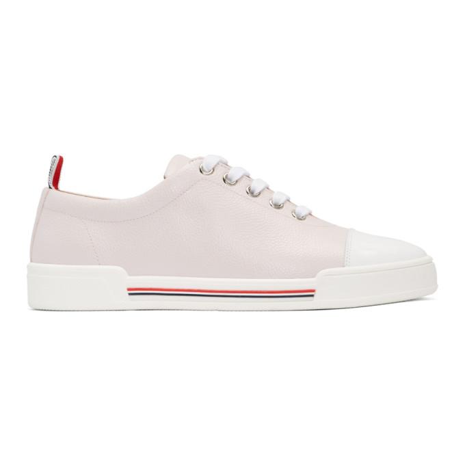 Thom Browne Pink Toe Cap Trainer Sneakers