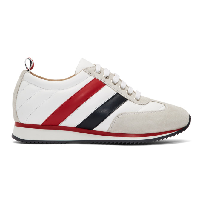 Thom Browne White Quilted Running Sneakers