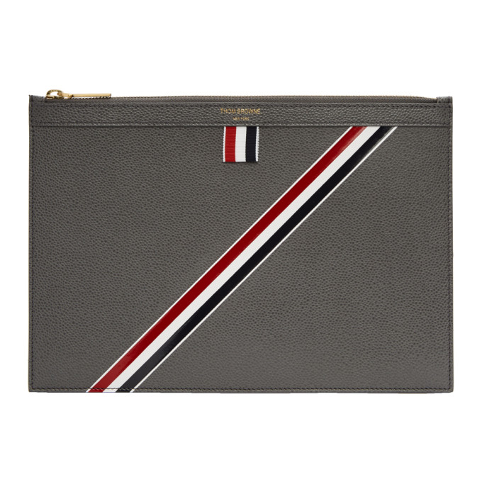 Thom Browne Grey Small Tablet Holder