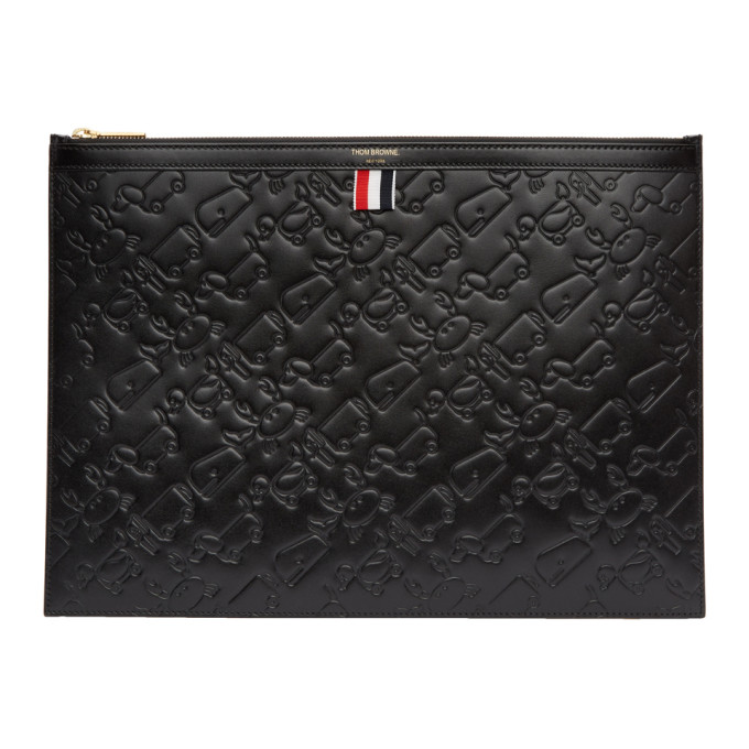 Thom Browne Black Large Toy Icon Laptop Holder