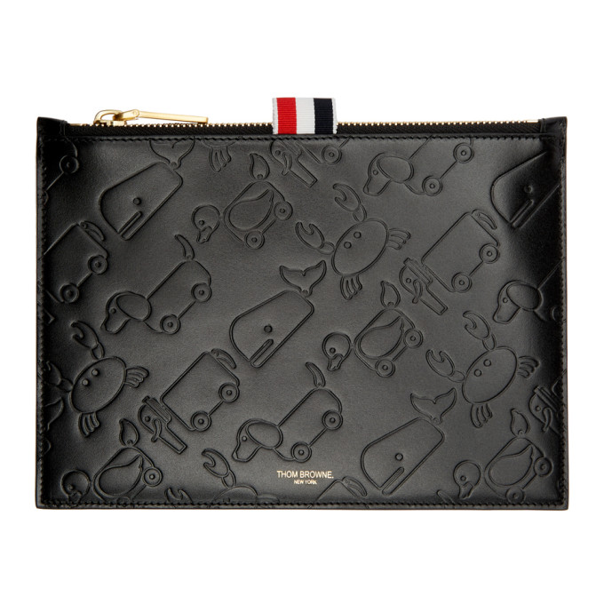 Thom Browne Black Large Embossed Toy Icon Coin Pouch