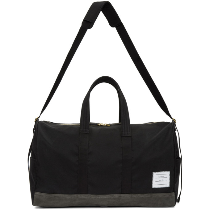 Thom Browne Black & Grey Unstructured Hold All Bag