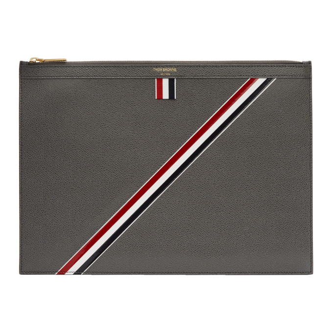 Thom Browne Grey Medium Document Holder