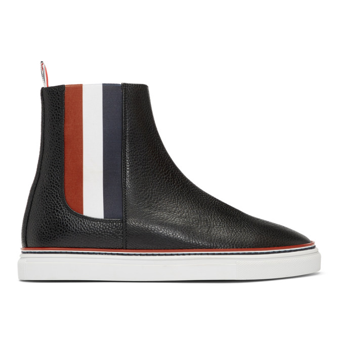 Thom Browne Black Trainer Chelsea Boots