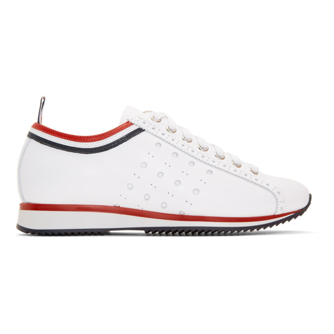 Thom Browne White Rugby Running Shoes Sneakers