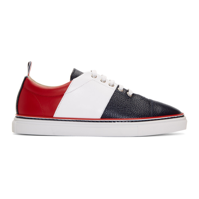 Thom Browne Tricolor Straight Toe Cap Sneakers
