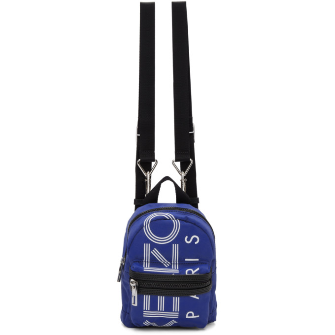 Kenzo Blue Mini Logo Backpack ba8ca09e70feb