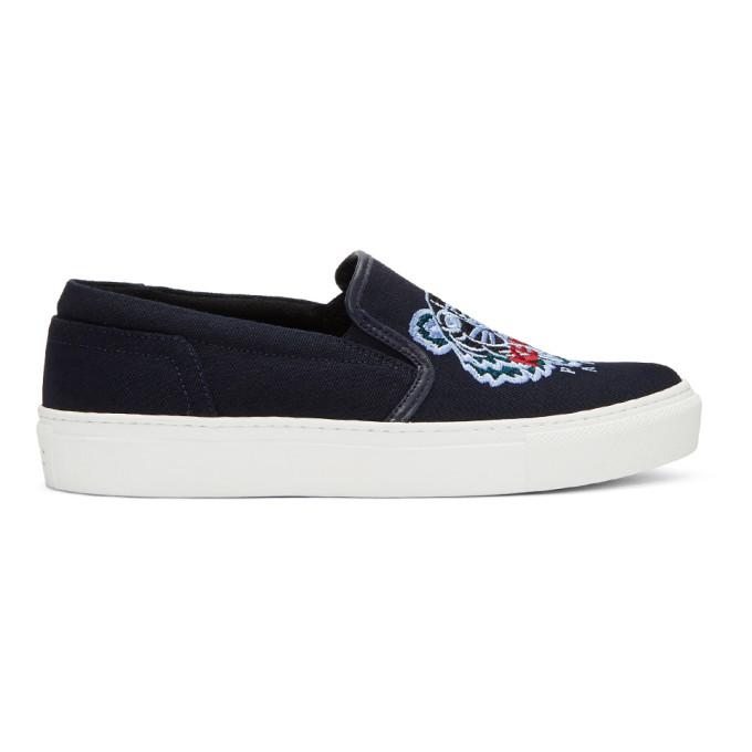 Kenzo Navy Tiger K-Skate Slip-On Sneakers