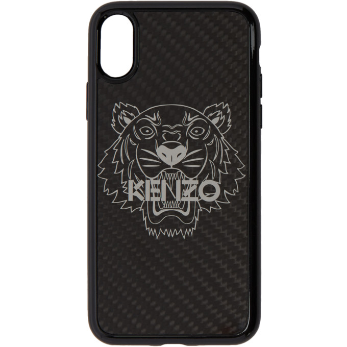 Image of Kenzo Black 3D Tiger iPhone X Case