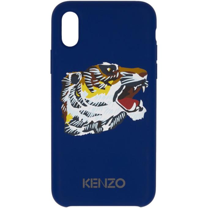 KENZO | Kenzo Blue Tiger Head iPhone X Case | Goxip