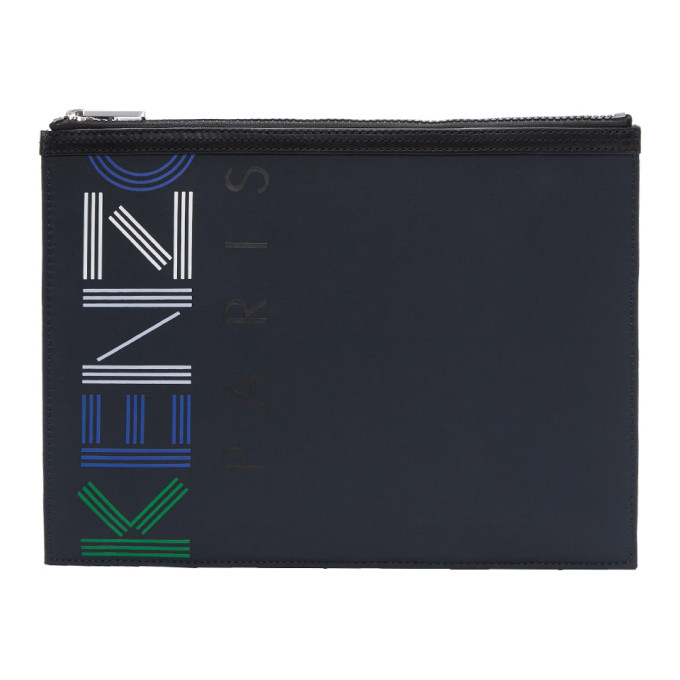 Kenzo Navy Logo Sport Pouch