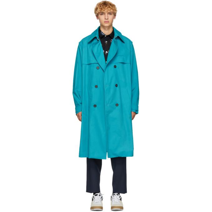 Kenzo ブルー トレンチ コート