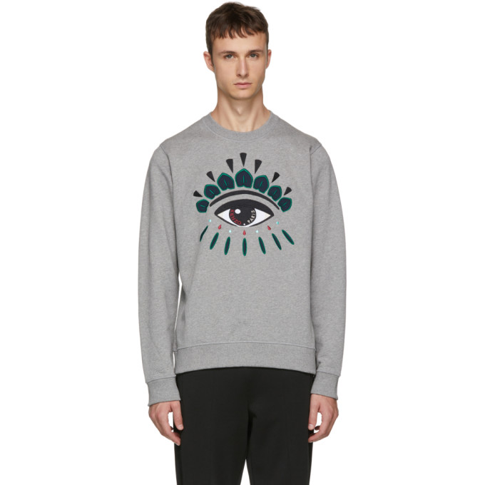 Kenzo Grey Eye Classic Sweatshirt