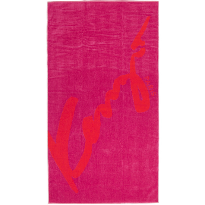 b1be6ad7 Kenzo Red and Pink Signature Beach Towel