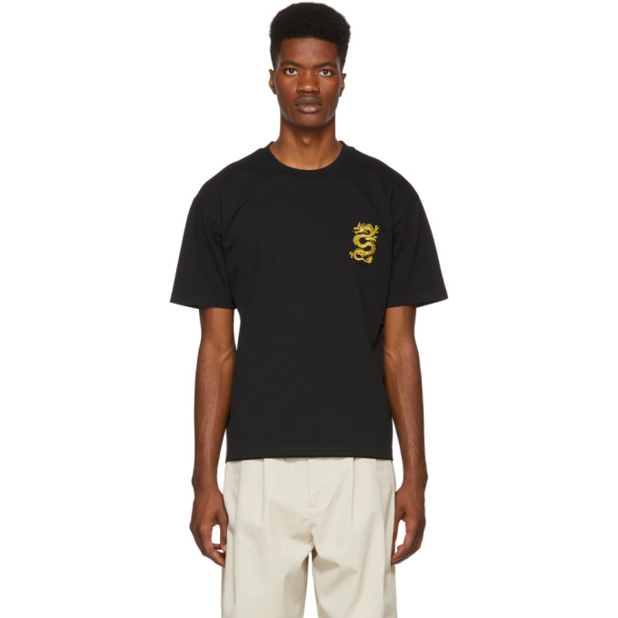 675a1522 Kenzo Black Dragon Crest T Shirt