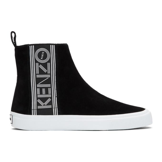 Kenzo Black Suede Kapri High-Top Sneakers