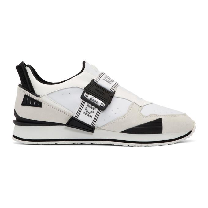 Kenzo White New K-Run Sneakers