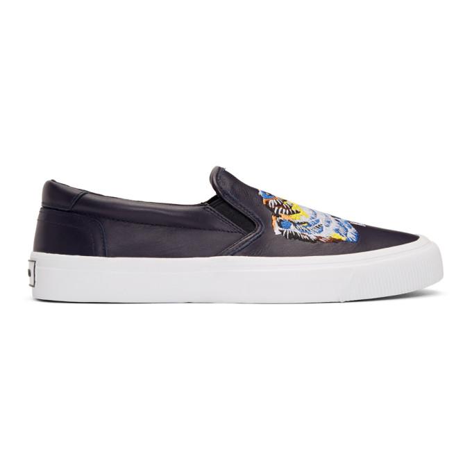 Kenzo Navy K-Skate Slip-On Sneakers