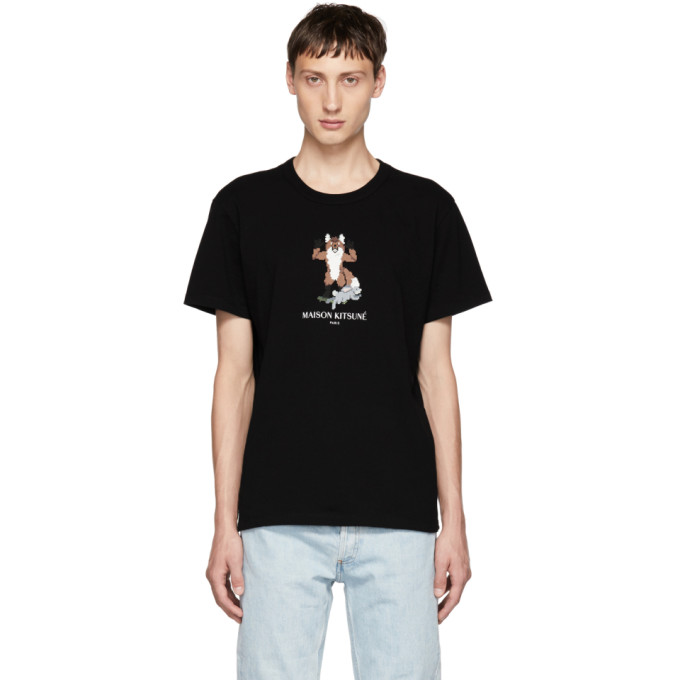 Image of Maison Kitsuné Black Pixel Fox T-Shirt