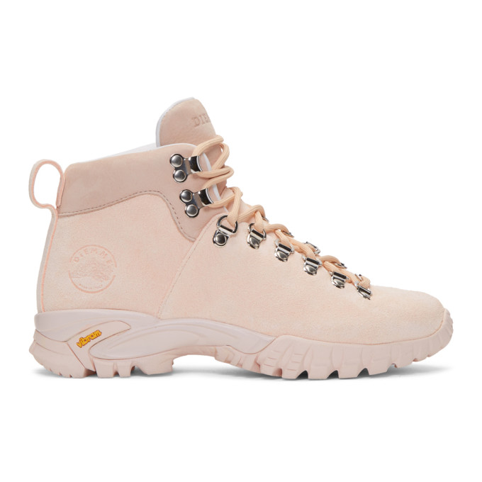 DIEMME Maser Lt. Hiker Suede Ankle Boots in Cloud Pink