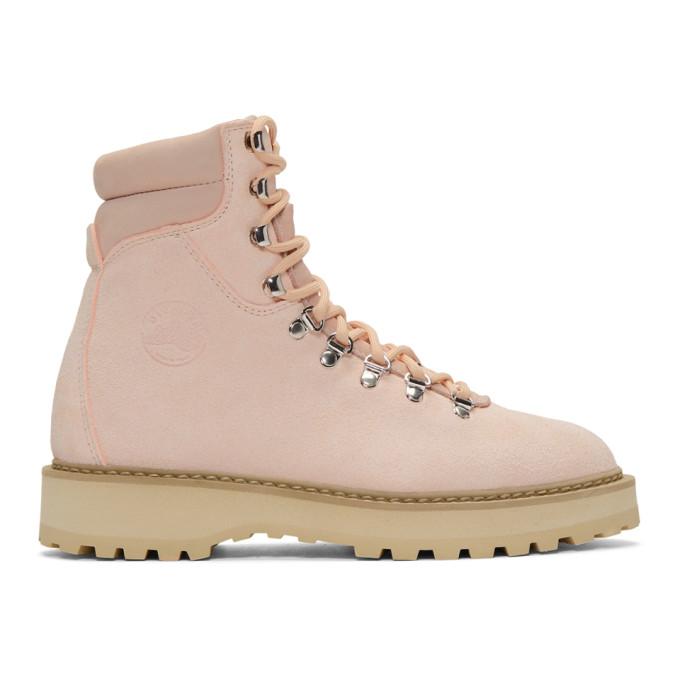 Diemme Pink Suede Monfumo Boots, Cloud Pink