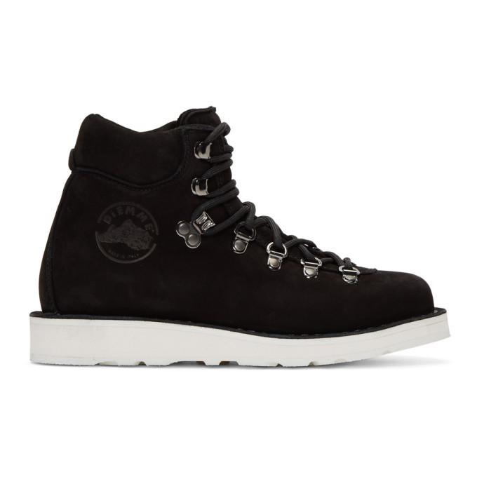 Diemme Black Nubuck Roccia Vet Boots, Black/White
