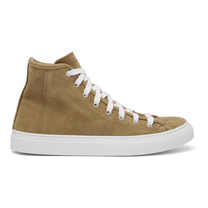 Image of Diemme Beige Suede Veneto Alto Sneakers