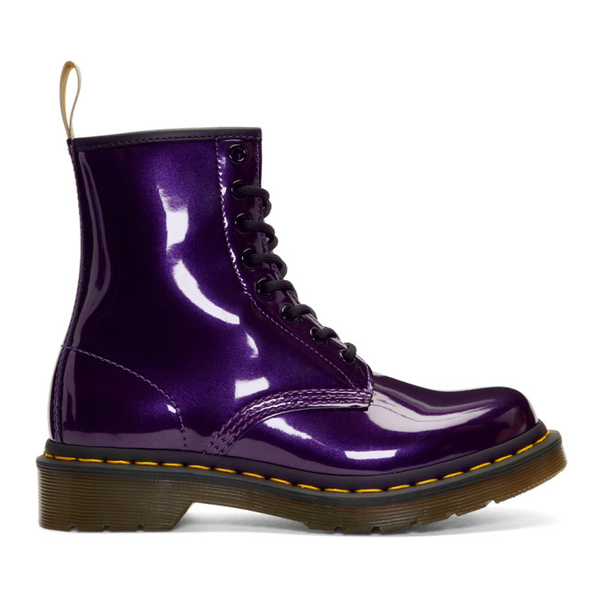 Dr. Martens Purple Vegan 1460 Boots