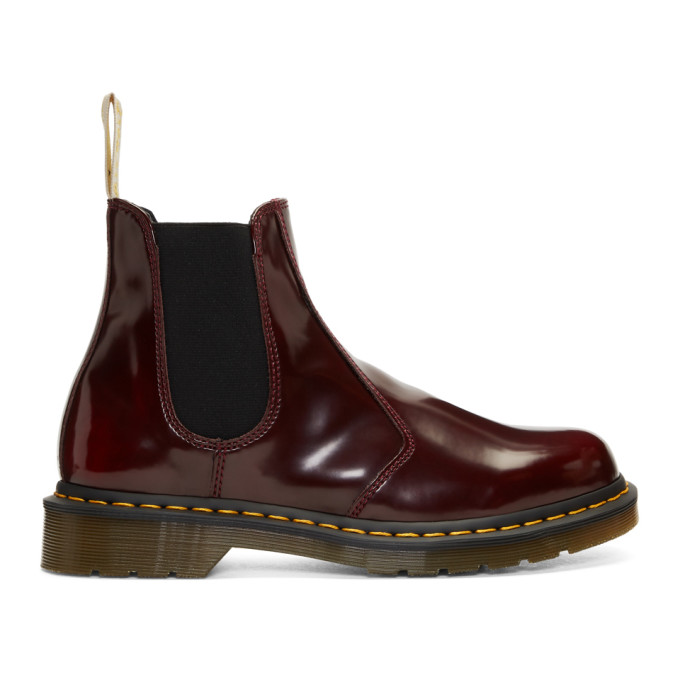 Dr. Martens Red 2976 Vegan Chelsea Boots