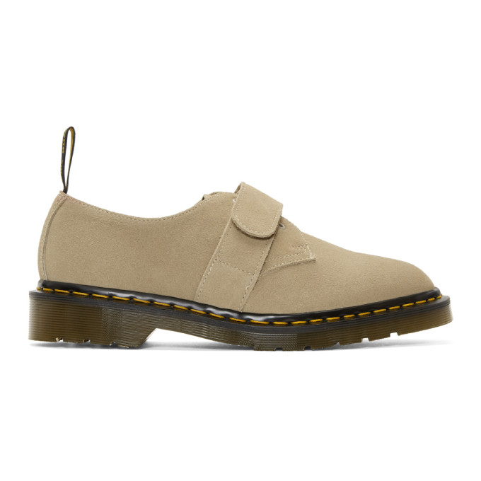 Dr. Martens Beige Engineered Garments Edition Suede 1461 Smith Derbys
