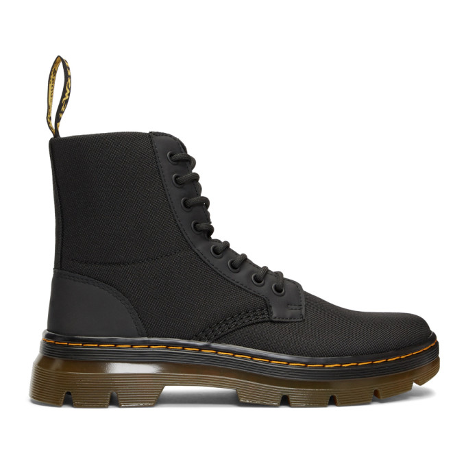 Dr. Martens Black Combs Lace-Up Boots