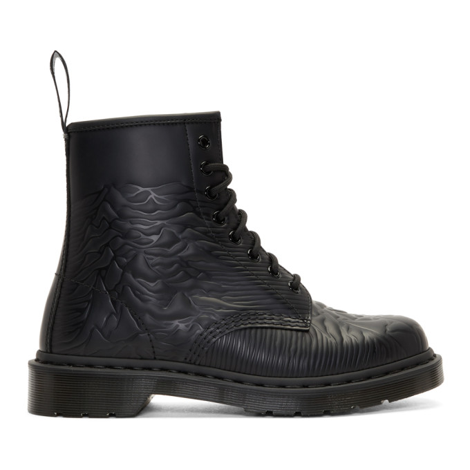 Dr. Martens Black Joy Division 'Unknown Pleasures' 1460 Boots