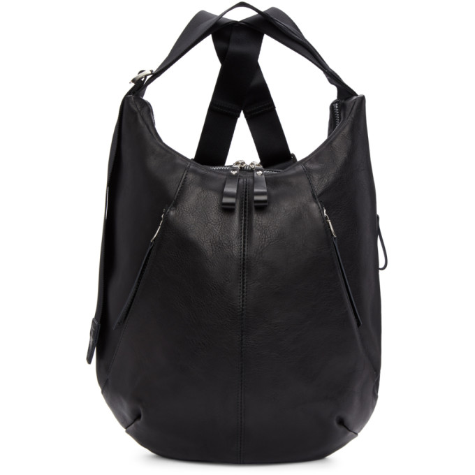 MASTER-PIECE CO Master-Piece Co Black Leather Wispy Backpack