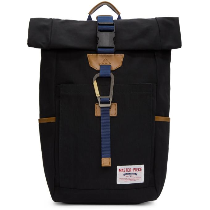MASTER-PIECE CO Black Foldover Link Backpack