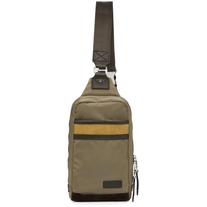 MASTER-PIECE CO Master-Piece Co Beige Density One-Shoulder Backpack