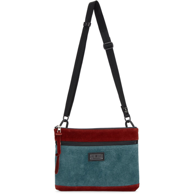 Image of Master-Piece Co Burgundy & Blue Revise Waterproof Messenger Bag
