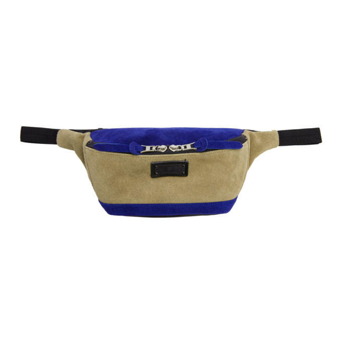 Image of Master-Piece Co Beige & Blue Revise Waterproof Waist Pouch