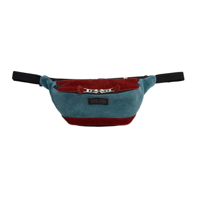 Image of Master-Piece Co Burgundy & Blue Revise Waterproof Waist Pouch