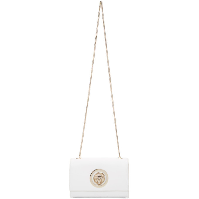 Versus White Lion Chain Wallet Bag