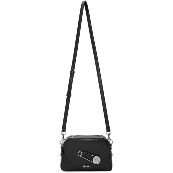 Versus Black Safety Pin Bag