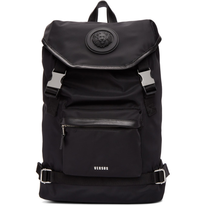 Versus Black Lion Head Backpack