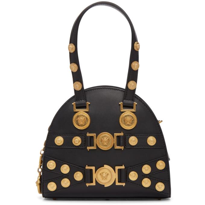 Versace Black Small Medusa Bowling Bag