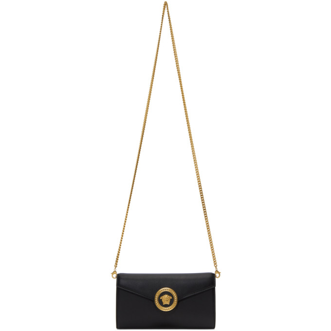 Versace Black Tribute Medusa Wallet Chain Bag