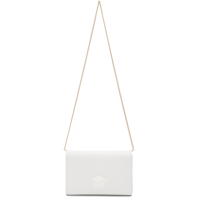 Versace White Medium Tonal Medusa Palazzo Bag