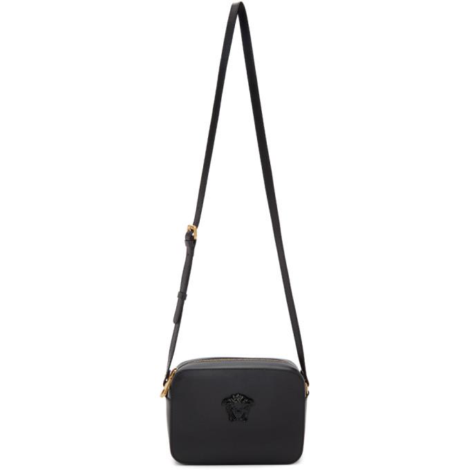 Versace Black Tribute Tonal Medusa Camera Bag